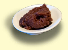 Photograph of red bean-paste