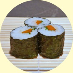 Photograph of Carrot-Basil-Maki