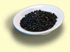 Photograph of dark sesame seed