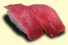 Photo of a pair of Maguro-nigiri