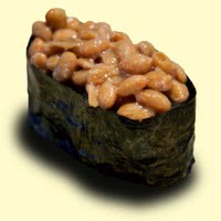 Photo of a Natto-nigiri